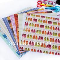 bamboo backgrounds - 20pcs set Background decoration paper handwork DIY photo album bonded Scrapbooks multicolor