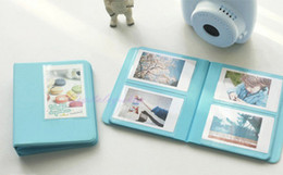 Sky Blue Candy Color Instax Mini 7s 8 25 50s Instant PVC Photo Album 64 Films For FujiFilm Polaroid Camera + Free Shipping