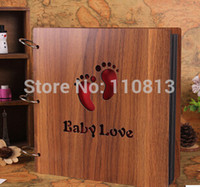 baby scrapbooking albums - Hot Sale Inch Diy Wedding Photo Album Handmade Photo Frame Lover Wooden Photo Album Baby Album Scrapbooking Paper