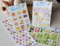 album making - 2015 New Arrival Summer DIY inch Scrapbooking Kit w D Crystal Stickers Alphabet and background paper to Make Photo Album