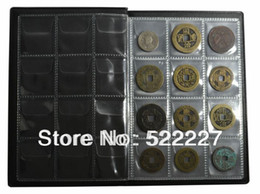 Wholesale New Collecting World Coin Holders Album Hold Coins Fixed Pages Black Green Red Blue color Option