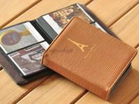 mini album - Khaki Paris Tower PU Leather Instax Mini s s Instant Photo Album Films For FujiFilm Polaroid Camera