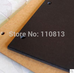Wholesale Hot Sale DIY Photo Album Inch Photo Album Bag Paste Type Corner Posts Fitted Black Card Cowhide Card