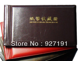 Wholesale 40 opening bank note protection album Safty for you banknote Paper Money Album