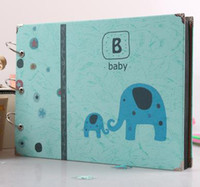 baby record books - 10 inch lovely animal elephant handmade clipbook Photo Albums Scrapbook Paper Crafts baby growth record books