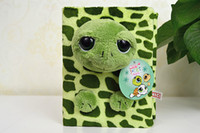 animal eyes photos - New sale pc quot pages nici stereo funny big eyes green turtle plush animal photo album stuffed toy children baby gift