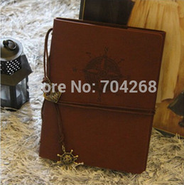 Wholesale DIY Leather Cover Vintage Antique Spiral Binding Craft Travel Photo Albums for Wedding Scrapbooking