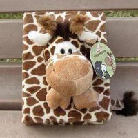 baby giraffe photos - Hot sale pc quot pages nici stereo sweet sika deer giraffe plush animal photo album toy children baby gift