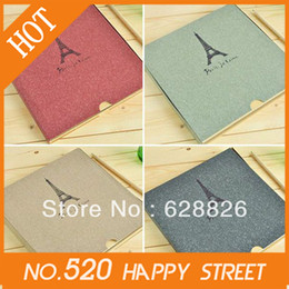 Wholesale DIY Retro Tower Photo album fashion diy black hard paper Your best gifts Christmas gifts hot sale