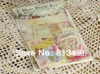 bamboo craft supplies - diy mini photo albums book kit paper craft scrapbooking supplies