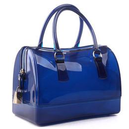 Wholesale women bag jelly handbag Transparent candy beach bags Crystal Summer style Waterproof bucket bag vrouwen lederen handtassen
