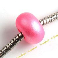 Pink plastic pearl beads - 250 New Glisten Acrylic Beads Imitation Pearl Acrylic Dark Pink Beads Plastic Beads Diy Bead