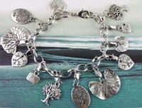 Wholesale 5PCS Tibetan silver TREE OF LIFE Chain bracelet
