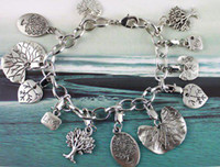 5PCS Tibetan silver TREE OF LIFE Chain bracelet #20120