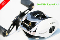 Wholesale 10 BB White Left Right New Baitcasting fishing reel Samurai Oneway lure reel spinning reel for abu outdoor sports abu