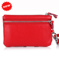 best abs woman - Best selling women multifunctional Genuine Leather key holders wristlet clutch coin bag wallet Cow PU LEATHER Purse YB DM158
