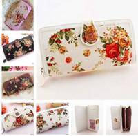 anna rose flower - Classic canvas women s rose flower wallet series long design women s wallet anna wallet