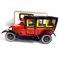 venda por atacado handmade toy-Clássicos Brinquedos De Lata De Carros Antigos Do Vento Até Brinquedos Para Meninos Vintage Artesanatos