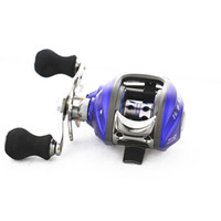 Wholesale New BB Left Hand Bait Casting Fishing Reel Ball Bearings One way Clutch Pesca Baitcasting Fishing Reel Blue