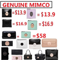 Wholesale GENUNIE Mimco MIM MEDIUM BLACK ROSE GOLD TURNLOCK POUCH WALLET PURSE IPHONE BYBY LUCID SECRET BAG SESFOAM WHITE BLUSH PINK