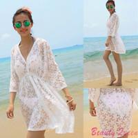 beauty tunics - Beauty Beach Cover Up Sexy Summer Beach Dresses Lace Swimwear Cover Ups Pareo Tunic Dress Casual Cardigans Saidas De Praia C646