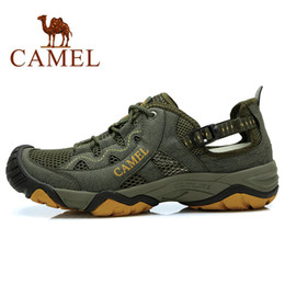 Wholesale CAMEL Hot sale outdoor hiking shoes breathable male shoes net cotton made shoes hiking shoes
