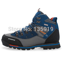 Free shipping Men's genuine leather brand outdoor hiking sports shoes HIking Boot climbing shoes