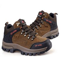 mens brand designer fashion mountain climbing waterproof shoes anti-skid wearproof breathable trekking boots shoe