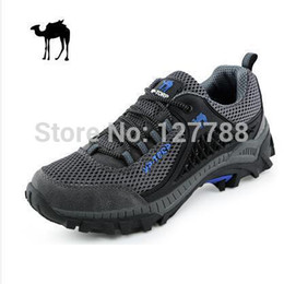 Wholesale-2015 Winter brand new outdoor shoes waterproof Camel hiking shoes men slip resistant damping Camel hiking shoes B130