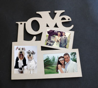 Cheap Free Shipping 1 pieces 100% High Quality Wood LOVE Photo Frame White Base Frame DIY Picture Frame Fashion Home Decoration