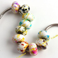 Round plastic beads - 100 Acrylic Beads Pattern Assorted Mixed White Acrylic Beads Plastic Beads Diy Bead In Stock