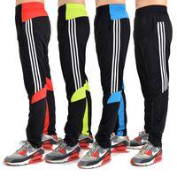 Wholesale 2015 New hot Fashion Brand Professional Soccer Pants Slim Skinny Sports Men s Football Training Leg Pants Sports Trousers men