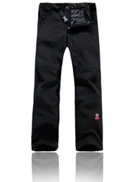 Wholesale 2015 Outdoor Brand Men Waterproof Polar Fleece Thermal Softshell Pants For Hiking Camping Mountain Ski Pants Windstopper S XXL