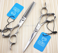 Wholesale inch Professional Hair Scissors set Straight amp Thinning scissors set cutting amp thinning barber shears