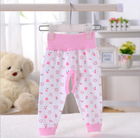 baby long john - Baby cotton high waist protect his pants Baby cartoon open files long Johns Tall waist trousers Baby pure cotton trousers