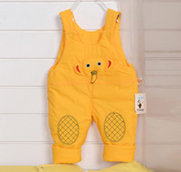 baby waterproof trousers - New Arrival Baby Boys Girls Pants Brand Cartoon Cute Elephent Chidren Winter Waterproof Overalls Kids Child Pant Candy Trouser