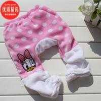 Wholesale Character Mickey Daisy Baby Fleece Pants Polka Dot Girls Leggings Tights PP Pant Retail
