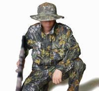 hunting clothes - One Suit Realtree Camouflage Hunting Clothes Waterproof Camouflage set jacket pant Hat