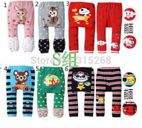 Wholesale Baby Clothing Winter Elastic Cartoon Baby Toddler Cotton PP Pants Busha Warm Unisex Baby Tights Kids Designer Leggings C017