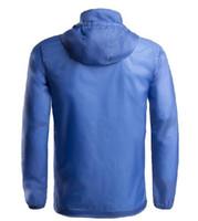 Hommes en gros-Outdoor séchage rapide anti-UV étanche Protecteur Vent pluie Ultralight ultra-mince veste de peau Cycling Jersey