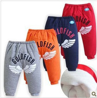 baby thermal pants - 2015 Next Baby Boy Pants Winter warm baby PP pants thermal trousers letter crotch dual purpose years old