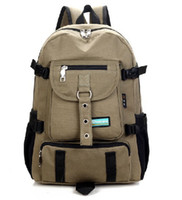 business equipment - fashion canvas school backpacks men luggage amp travel tourism bags camping military equipment backpack CB36