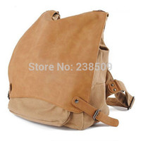 Wholesale Mens Womens Vintage Fashion Canvas Backpacks Casual with Soft PU Shoulders Daypacks Multifunctional Duffel Travel Bag