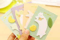 Wholesale 100 animals memo pad paper sticker post it sticky notes kawaii stationery papelaria material escolar school supplies