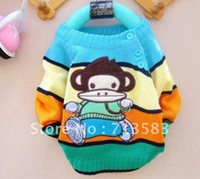 baby monkey quality - High quality children autumn clothes New style Cartoon Monkey baby boy s girl s long Sleeve Pullovers Sweater