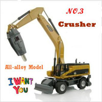Wholesale NEW cone rock crusher all alloy construction vehicles model kids toys gift