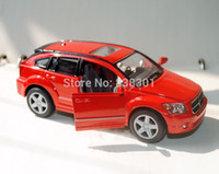 Wholesale Brand New Scale Diecast Car Toys Red Color Dodge Caliber Metal Pull Back Car Toy For Children Gift Kids