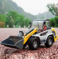 light duty truck - 1 Light duty bulldozer forklift truck model alloy engineering vehicle model toy car for children