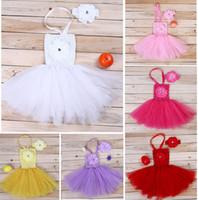 Cheap Newborn Bebe Baby Girls Clothing Set Clothes Tutu Dress +Wrapped Chest Tube Sweater+Headband Christening Shower Photography Prop