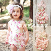 baby dropshipping - NEW Style Dropshipping Baby Kids Girls Toddlers Lace Flower Romper Sunsuit Outfits Clothing One Pieces